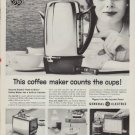 "1960 GE COFFEE MAKER ""PEEK-A-BREW"" Advertisement"