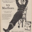 "1960 MARLBORO CIGARETTE ""FILTERS CAME IN"" Advertisement"