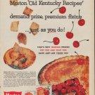 "1960 MORTON PIE ""OLD KENTUCKY RECIPES"" Advertisement"