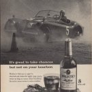"1960 Walker's Deluxe Whiskey ""Take Chances"" Ad"