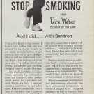 1967 BANTRON Ad featuring Pro Bowler Dick Weber