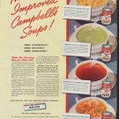 """1942 Campbell's Soup Ad """"Improved Recipe"""""""