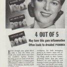 "1942 Forhan's Gum Cleaner Ad ""Tender, Bleeding Gums"""