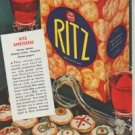 """1942 Ritz Ad """"How to make Thrifty Meals look and taste like a """"million"""""""""""