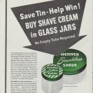 "1942 Mennen Ad ""Save Tin - Help Win!"""