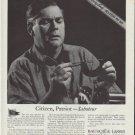 "1942 Bausch & Lomb Ad ""Citizen, Patriot -- Saboteur"""