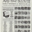 """1961 RCA Victor Ad """"Any five for only $3.98 ... Either stereo or regular L.P."""""""