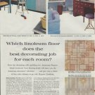 """1961 Armstrong Floors Ad """"Which linoleum floor ...?"""""""