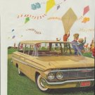 """1961 General Motors Ad """"High-flying fun on a windswept March day!"""""""