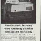 """1961 General Telephone & Electronics Ad """"Fills your chair when you're not there"""""""