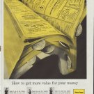 """1961 Yellow Pages Ad """"How to get more value for your money"""""""