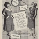 "1950 Sanforized Ad ""Margot took a minute ... Lucy took a loss!"""