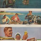 """1950 Schlitz Beer Ad """"I was curious"""""""