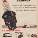 """1950 Champion Ad """"Quality and Dependability"""""""