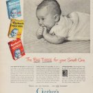 """1950 Gerber's Baby Foods Ad """"The Big Three for your Small One"""""""