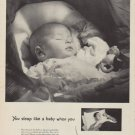 "1950 Pullman Ad ""You sleep like a baby when you Go Pullman"""