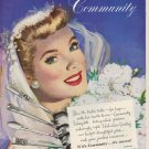 """1949 Community Silverplate Ad """"The happiest brides have Community"""""""