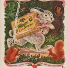 """1949 Whitman's Ad """"Here's Hoping He's Hopping Your Way"""""""