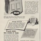 "1949 Malarkey doors Ad ""Now Trademarked For Your Identification And Protection"""