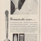 """1949 King Edward Silverplate Ad """"Romantically yours ..."""""""