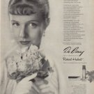 "1949 DuBarry Lipstick Ad ""Who is she?"""