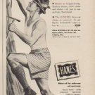"1949 Hanes Ad ""Climb or stoop or sit -- GIVVIES always fit"""