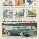 """1958 Rambler Rebel V-8 Ad """"Get the Best of Both -- Go Rambler!"""""""