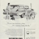 "1958 Seiberling Tires Ad ""Piggy Bank"""