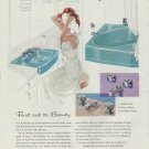 """1958 Kohler Ad """"First aid to Beauty"""""""