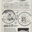 """1958 Cotton  Ad """"Slants On Sleep"""""""