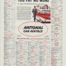 "1958 National Car Rentals Ad ""You Pay No More"""