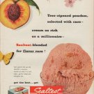 "1952 Sealtest Ice Cream Ad ""Tree-ripened peaches"""