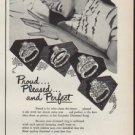 """1952 Keepsake Diamond Rings Ad """"Proud ... Pleased"""""""