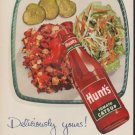"1952 Hunt's Tomato Catsup Ad ""Deliciously yours!"""