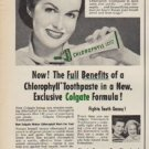 "1952 Colgate Ad ""Chlorophyll Toothpaste"""