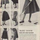"""1952 Sacony skirts and blouses Ad """"Skirt Boom"""""""