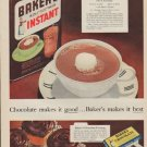"""1955 Baker's Chocolate Ad """"Chocolate makes it good"""""""