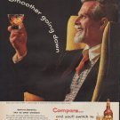 """1955 Calvert Whiskey Ad """"Smoother going down"""""""