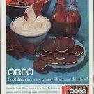 """1961 Nabisco Oreo Ad """"more creamy filling"""""""