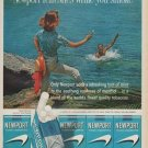 """1961 Newport Cigarettes Ad """"refreshes while you smoke"""""""