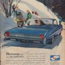 """1961 Oldsmobile Ad """"Roomy ... as all outdoors!"""""""