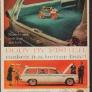 "1961 Body by Fisher Ad ""Room to pack"""