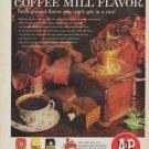 """1961 A&P Coffee Ad """"enjoy Coffee Mill Flavor"""""""