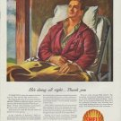 "1942 Shell Oil Ad ""He's doing all right ... Thank you"""