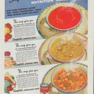"1942 Campbell's Ad ""Nutrition Meals"""