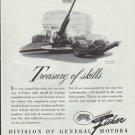 "1942 General Motors Ad ""Treasury of skills"""