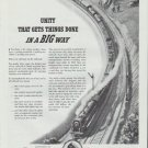 """1942 American Railroads Ad """"Gets Things Done"""""""