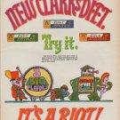 """1967 Clark Gum Ad """"New Clark's Di-et"""""""