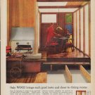 """1962 National Lumber Manufacturers Association Ad """"Only WOOD"""""""