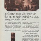 """1968 Chequers Ad """"In the grey morn"""""""